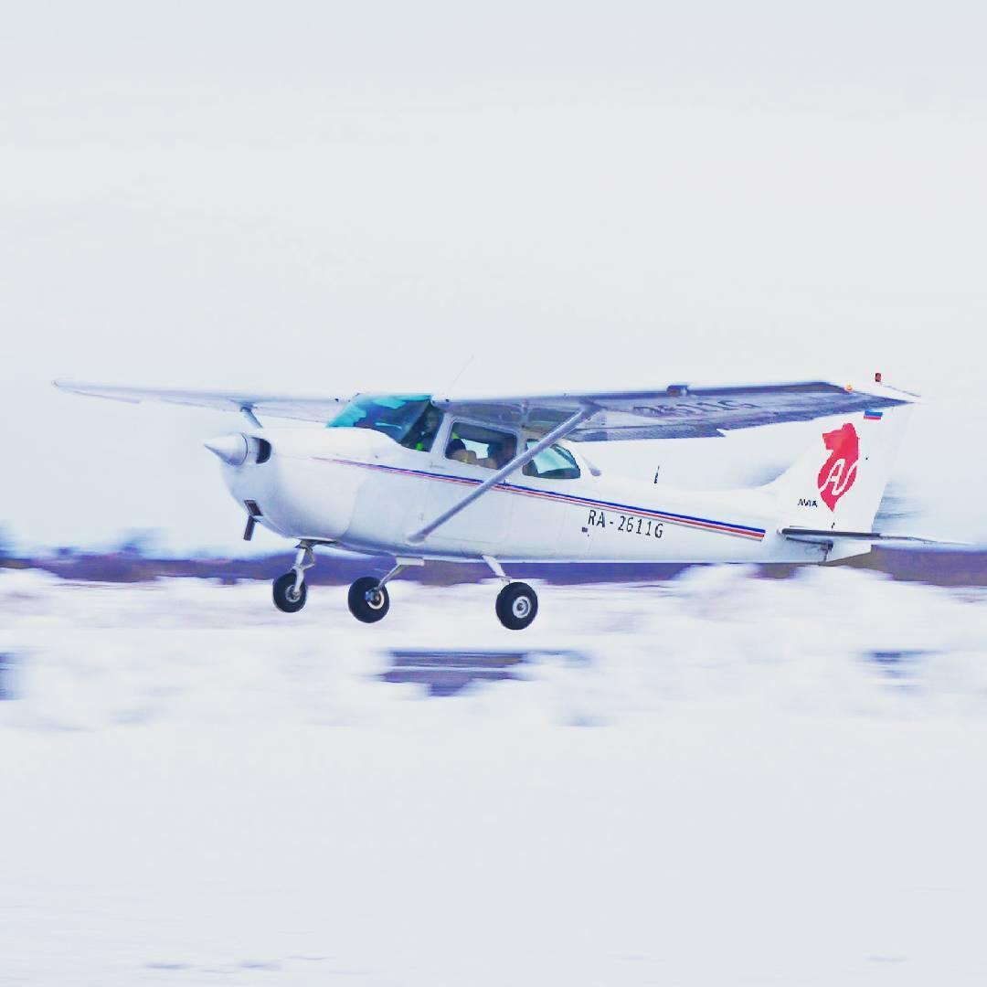 Полёт за штурвалом самолёта Cessna 172