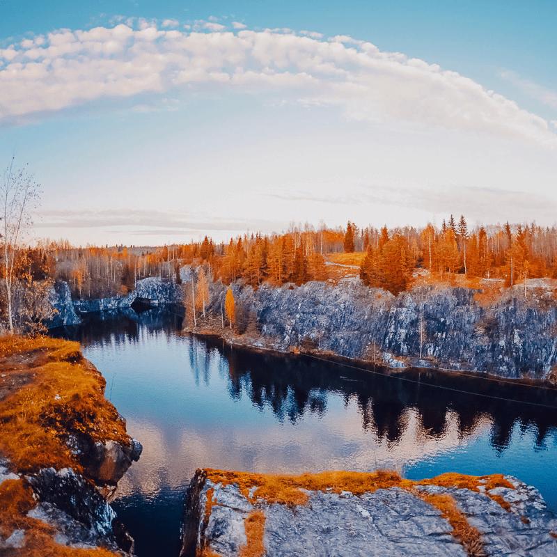 Экскурсия по Карелии «Мраморный каньон, Рускеальские водопады» от агентства «Вертикаль» со скидкой 50%