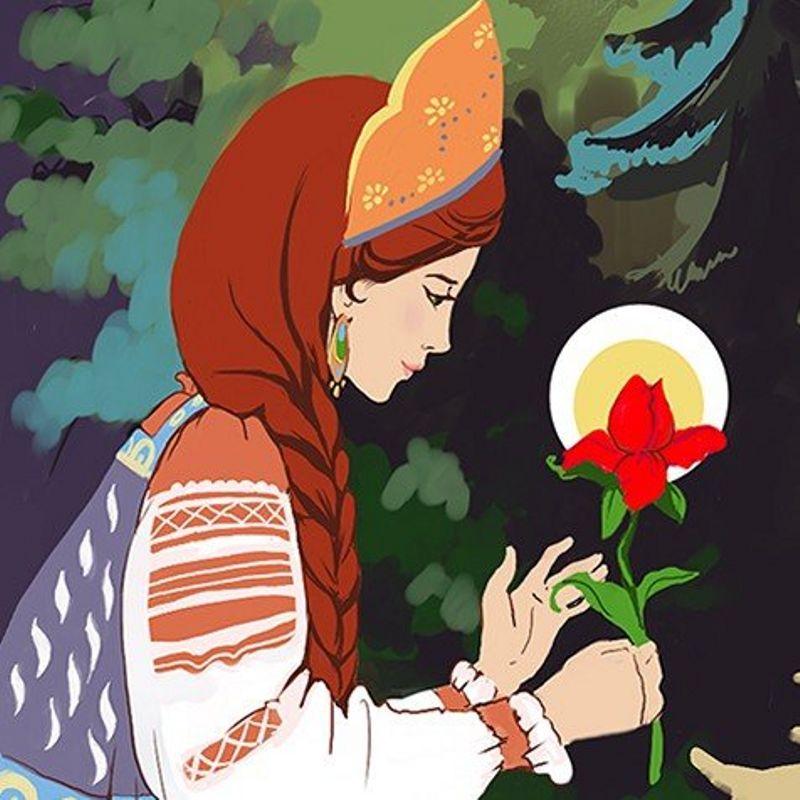 Сказка аленький цветочек картинка для детей