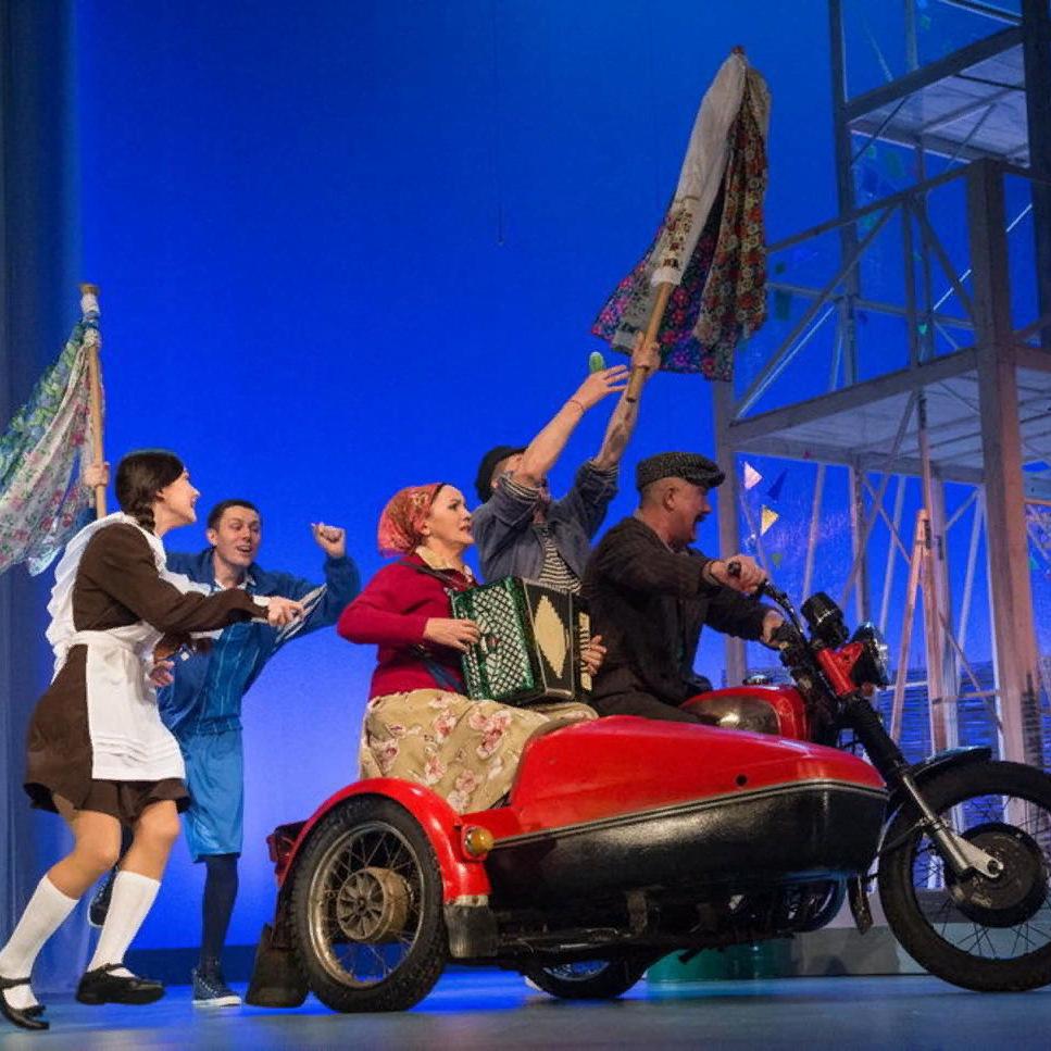 Спектакль «Взлетел петух на плетень» на Театральной олимпиаде