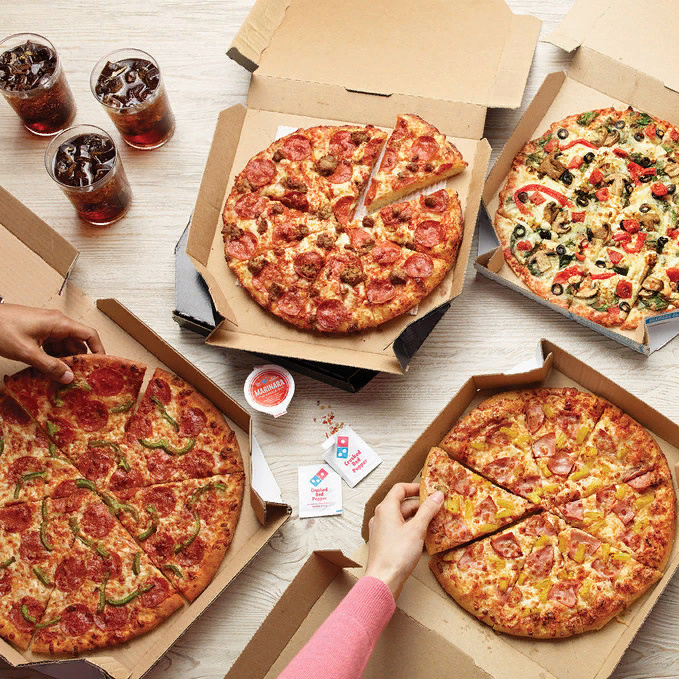 Скидка 35% на доставку из ресторана Domino's Pizza