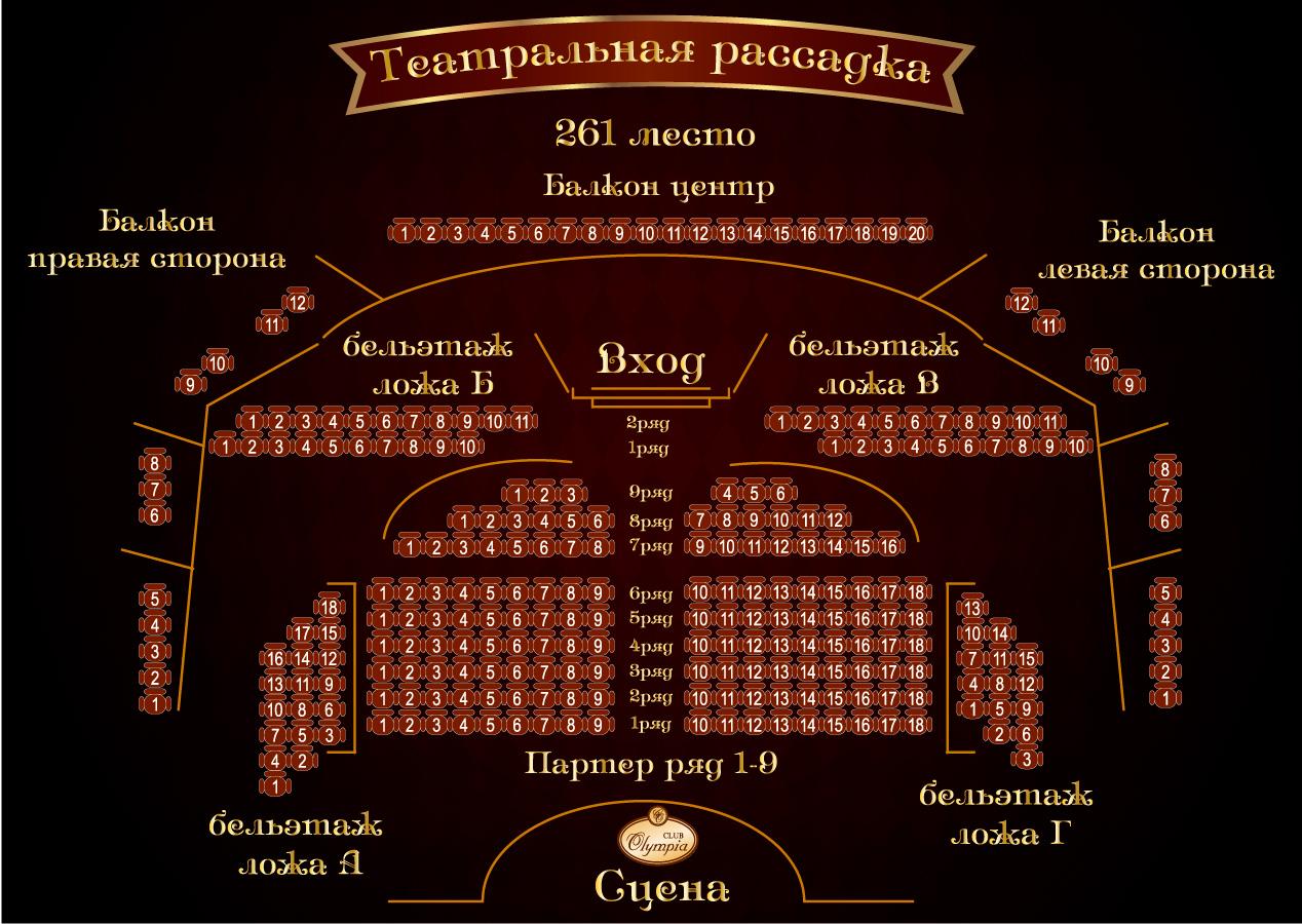 Дворец «Олимпия» схема зала